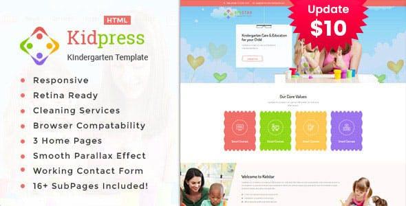 Kidpress- Kindergarten & School HTML Template