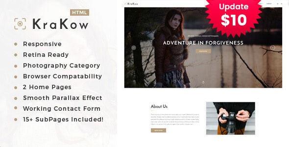 Krakow - Photography HTML Template - Photography Creative