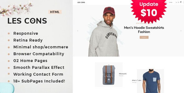 Lescons - Minimal eCommerce Template - Shopping Retail