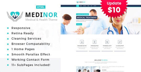 Medinor - Health And Medical HTML Template - Health & Beauty Retail