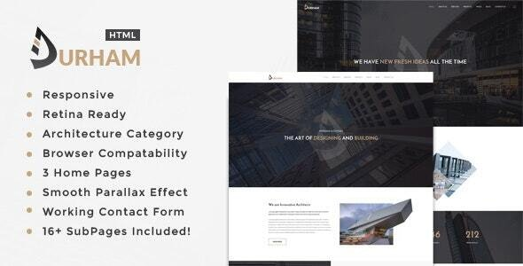 Durham- Architecture, Interior and Renovation Template - Business Corporate