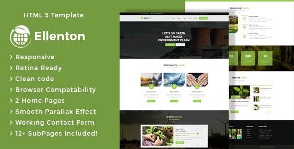 Ellenton - Environment / Non-Profit HTML Template - Environmental Nonprofit