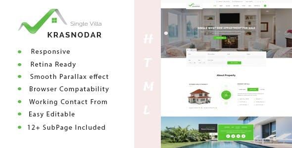 Krasnodar | Real Estate Property HTML5 Template