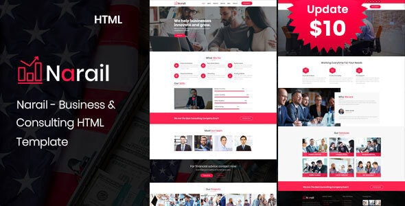 Narail - Business Consulting Services HTML Template - Business Corporate