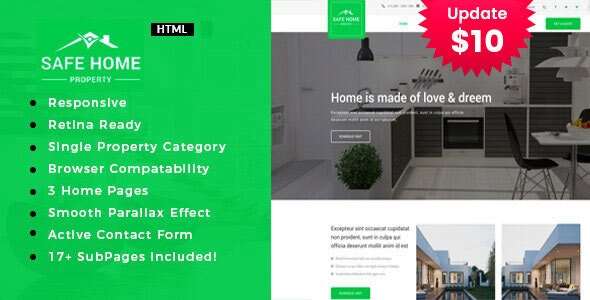 Safehome - Real Estate Property HTML5 Template - Business Corporate