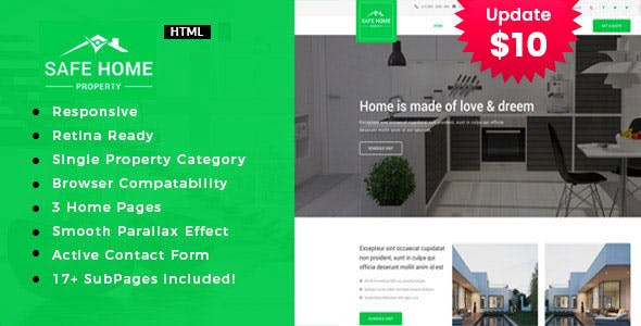 Safehome - Real Estate Property HTML5 Template
