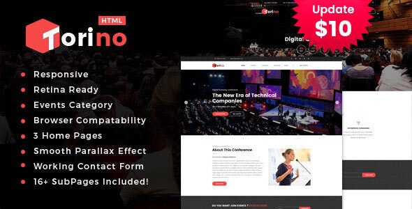 Torino - HTML Template for Conference and Event - Events Entertainment