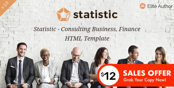 Statistic - Consulting Business and Finance HTML5 Template - Business Corporate