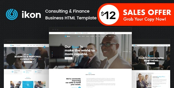ikon - Consulting Business HTML Template - Business Corporate