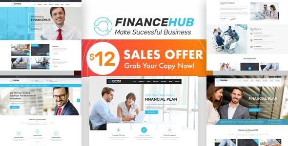 Finance HUB - Business Consulting and Professional Services HTML Template - Business Corporate