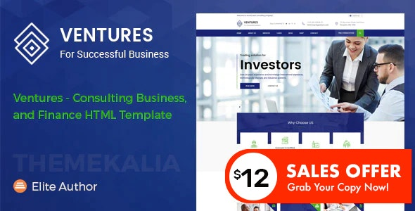 Ventures - Consulting Business and Finance HTML Template - Business Corporate
