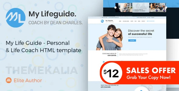 My LifeGuide - Personal and Life Coach HTML template - Health & Beauty Retail