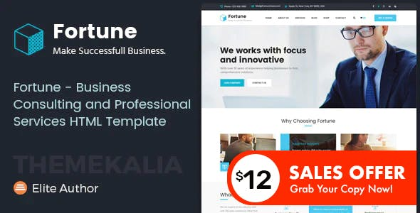 Fortune - Business Consulting and Professional Services HTML Template