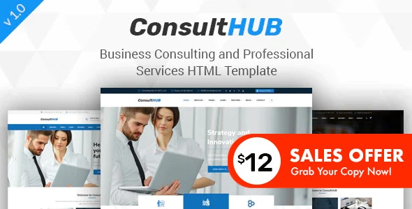 Consult HUB - Business Consulting and Professional Services HTML Template - Business Corporate