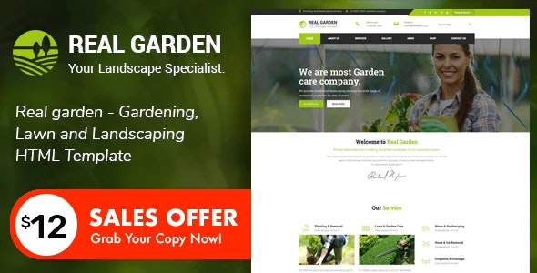 Real Garden - Gardening & Landscaping HTML Template - Business Corporate