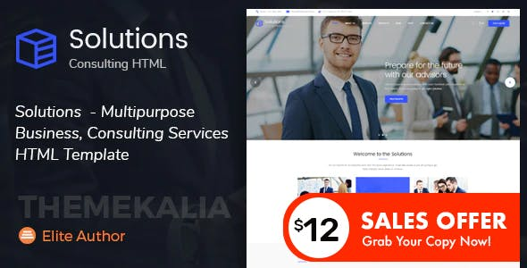 Solutions - Multipurpose Business Consulting Services HTML Template