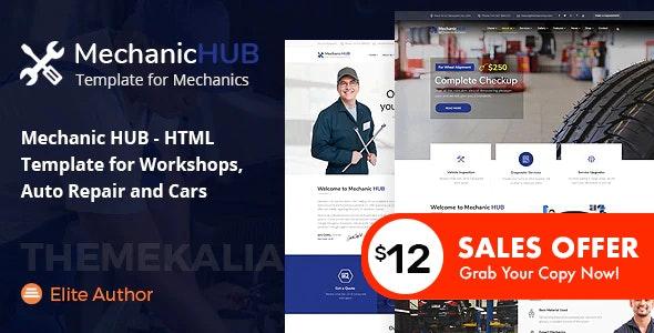 Mechanic HUB - Car Repair HTML Template - Business Corporate