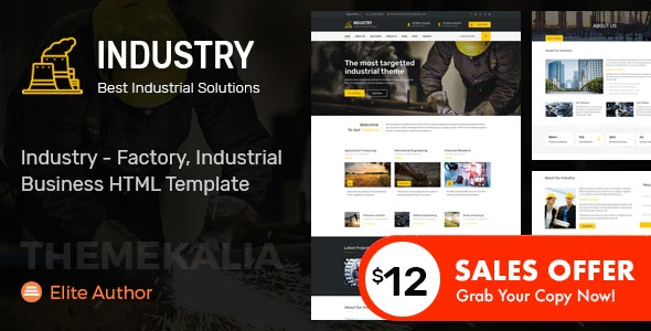 Industry - Factory, Industrial Business HTML Template - Business Corporate