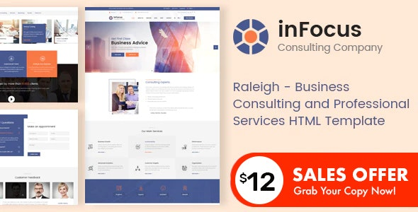 inFocus - Business Consulting and Professional Services HTML Template - Business Corporate