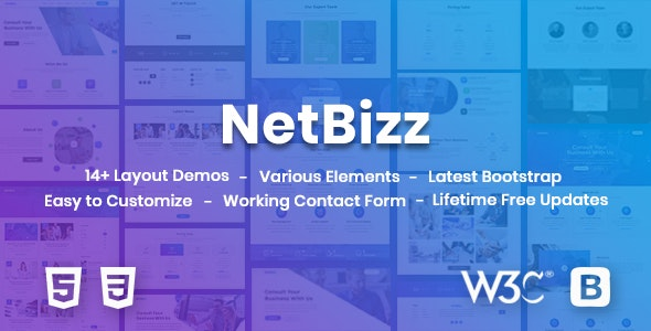 NetBizz -  Business and Corporate Multipurpose HTML Template - Corporate Site Templates