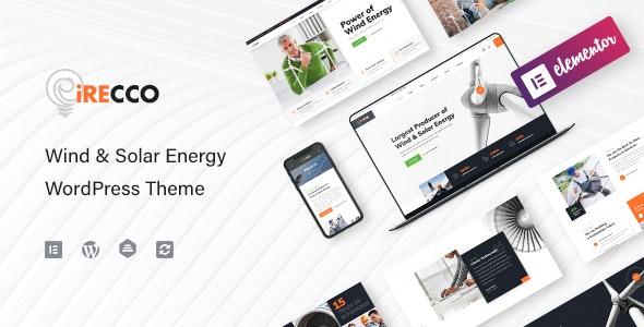 iRecco - Wind & Solar Energy WordPress Theme - Business Corporate