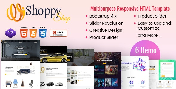 Shoppy - eCommerce HTML Template - Retail Site Templates
