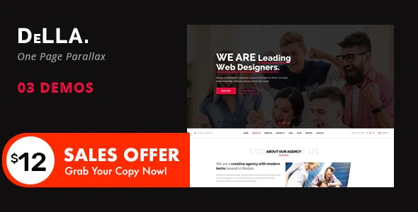 DELLA - One Page Template for Digital Agency - Creative Site Templates
