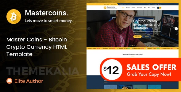 Master Coins - Bitcoin Crypto Currency HTML Template - Business Corporate