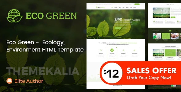Eco Green - HTML Template for Environment and Renewable Energy Company - Environmental Nonprofit