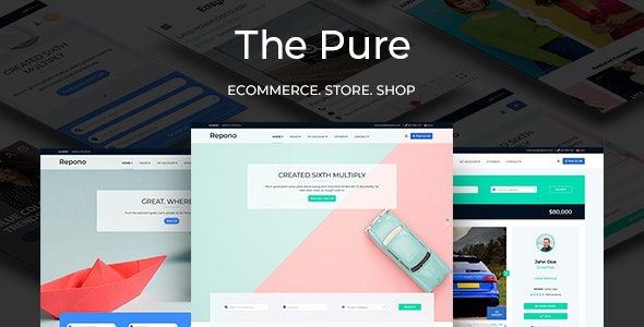 ThePure - Classified Ads HTML Template - Retail Site Templates