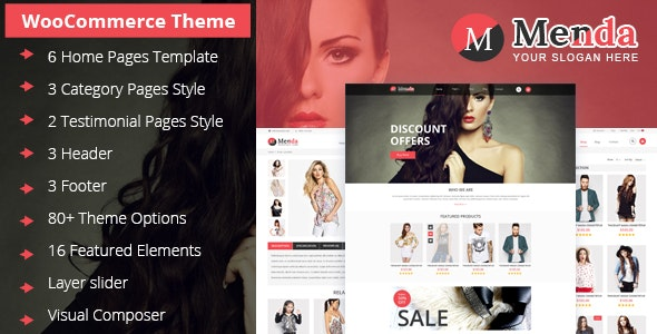 Menda - Ecommerce Wordpress Themes - WooCommerce eCommerce