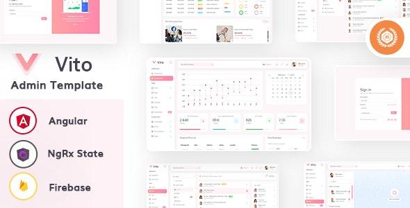 Vito - Angular 9 (NgRx State) Admin Dashboard Template - Admin Templates Site Templates