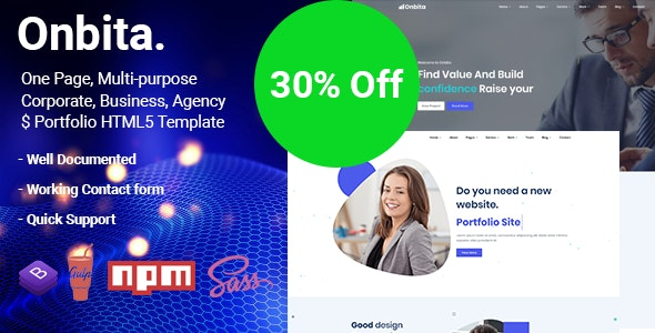 Onbita -  One Page Parallax - Business Corporate
