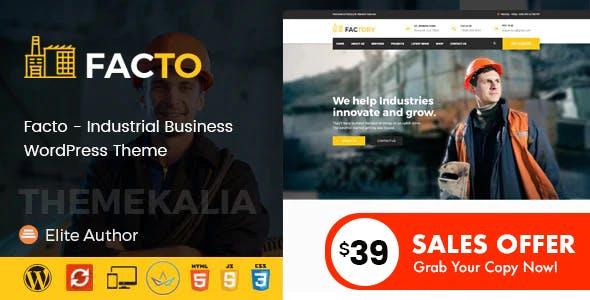 Facto - Industrial Business WordPress Theme