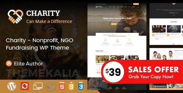 Charity - Nonprofit and Fundraising WordPress Theme - Charity Nonprofit