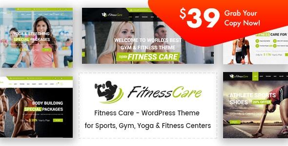 Fitness Care - Gym WordPress Theme - Health & Beauty Retail