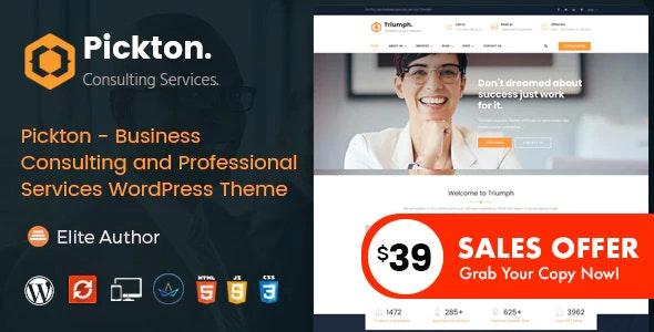 Pickton - Consulting WordPress Theme - Business Corporate