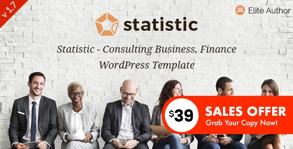 Statistic - Business Consulting and Professional Services WordPress Theme - Business Corporate