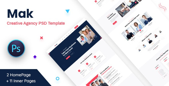 Mak - Creative Agency PSD Template - Business Corporate