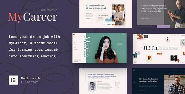 MyCareer - Resume WordPress Theme - Business Corporate