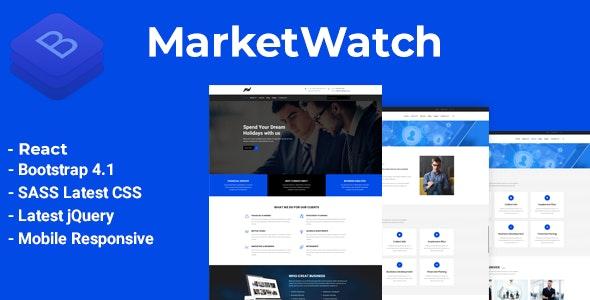 MarketWatch - Corporate Finance React Template - Business Corporate