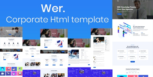 Wer Corporate HTML Template - Corporate Site Templates