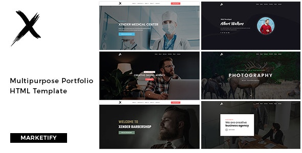 Xender - Creative Agency, Corporate and Portfolio Template - Portfolio Creative