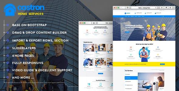 Castron - Home Maintenance, Repair and Improvement Services Drupal 8.8 Theme