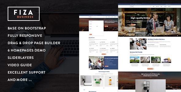 Fiza - Responsive Business Service Drupal 8.8 Theme - Business Corporate