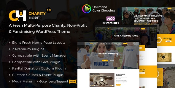 Charity Hope - Non-Profit & Fundraising WordPress Charity Theme - Charity Nonprofit