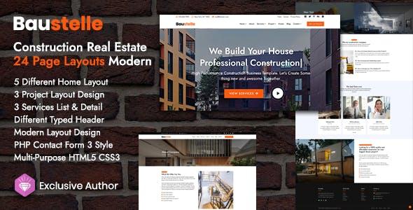 Baustelle - Construction Real Estate Multi Purpose