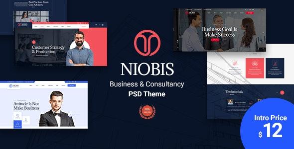 NioBis - Corporate Business PSD Template - Business Corporate