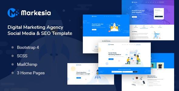 Markesia - Digital Marketing Agency & HTML SEO Template