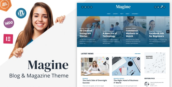 Magine - Business Blog WordPress Theme - Blog / Magazine WordPress